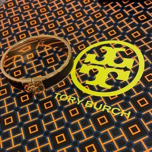 Tory Burch Small Leather Inlay Cuff Norwood